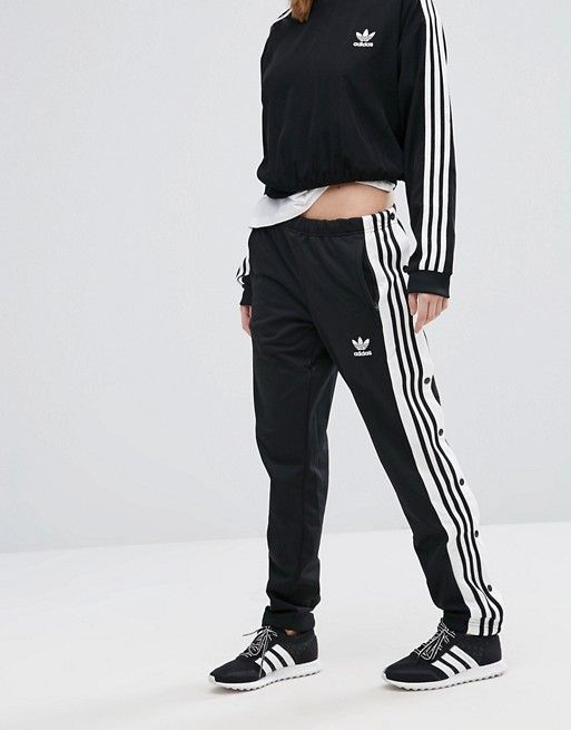 Adidas Popper Track Pant In Black