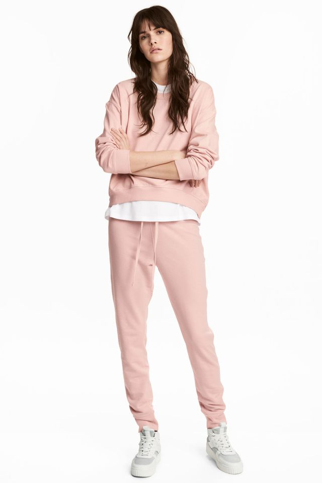 H&M Sweatshirt in Powder Pink