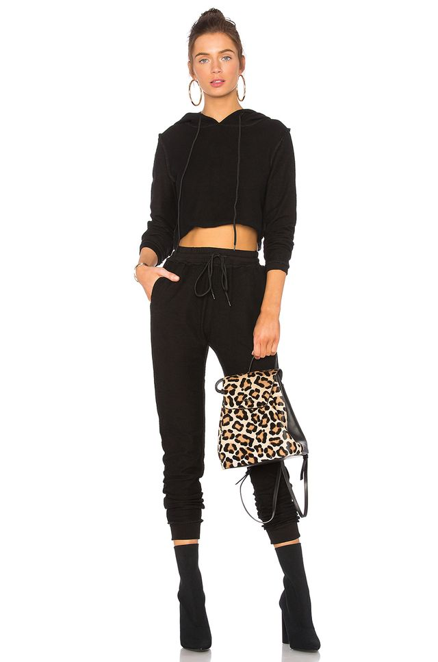 Danielle Guizio DG Sweatsuit in Midnight Black