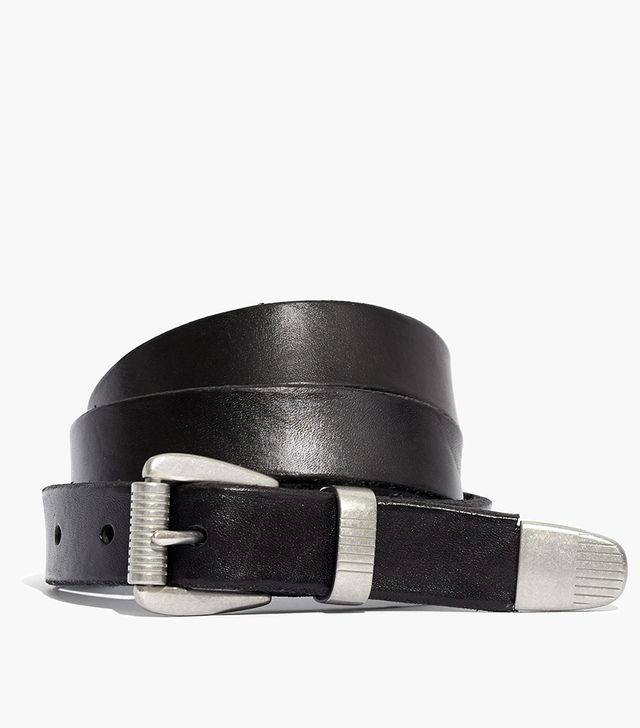 Leather Three-Piece Belt