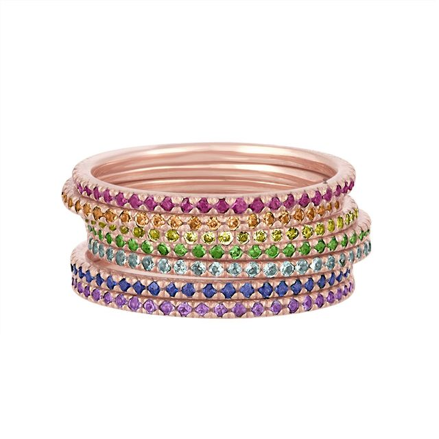 Eriness Jewelry Rainbow Stack Bands