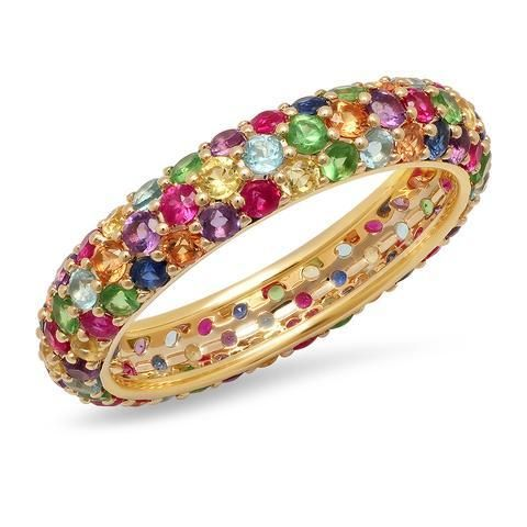 Eriness Jewelry Multicolored Dome Ring