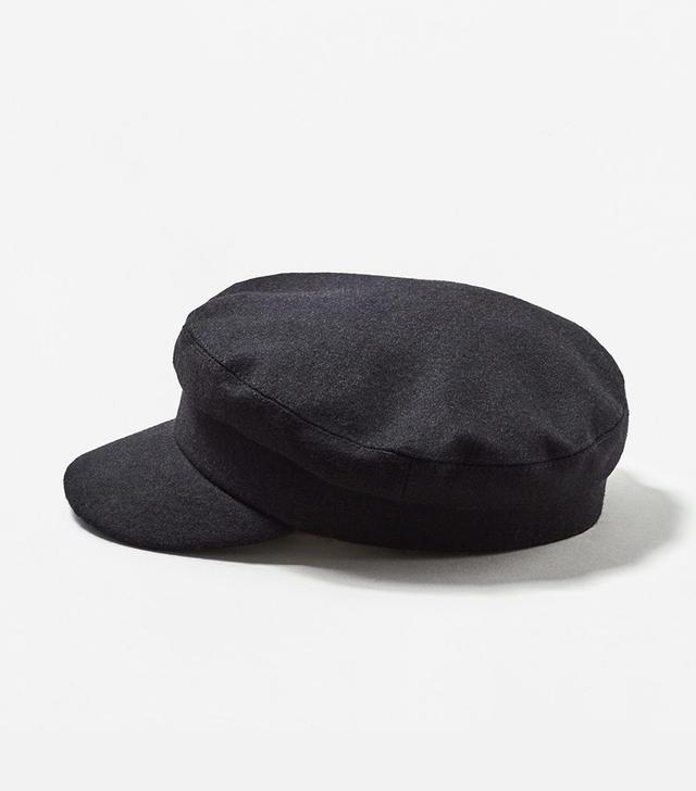 Wool-blend cap