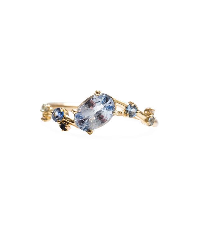 Wwake Sapphire Crossover Ring