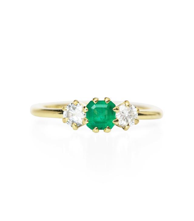 ILA Gramo Emerald And Diamond Ring