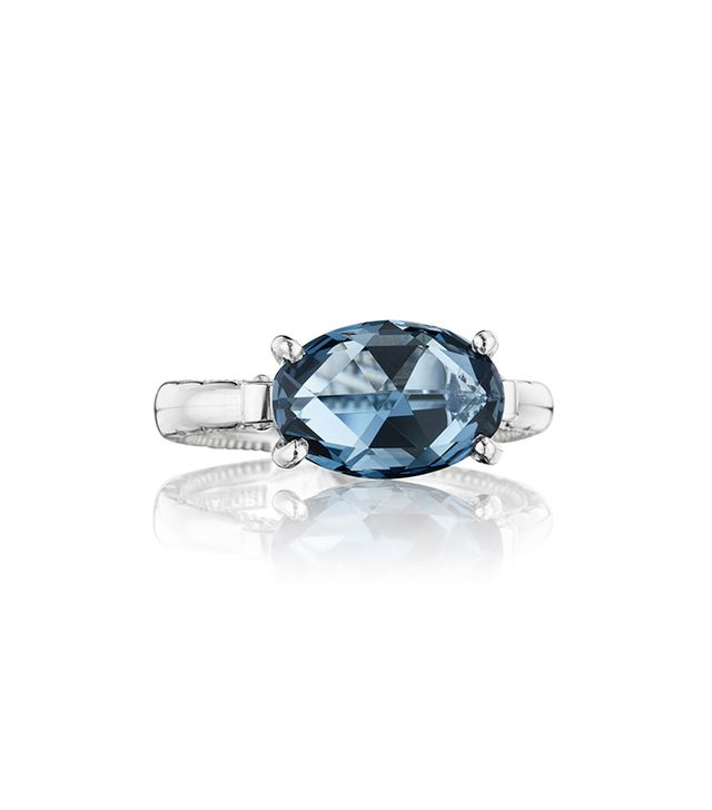 Tacori East-West Oval Ring featuring London Blue Topaz