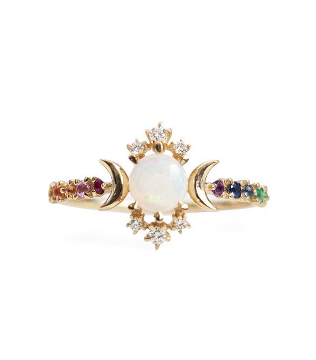 Sofia Zakia Rainbow Wandering Star Ring