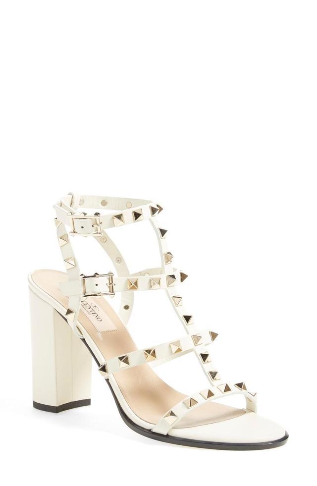 Women's Valentino Garavani 'Rockstud' T-Strap Sandal