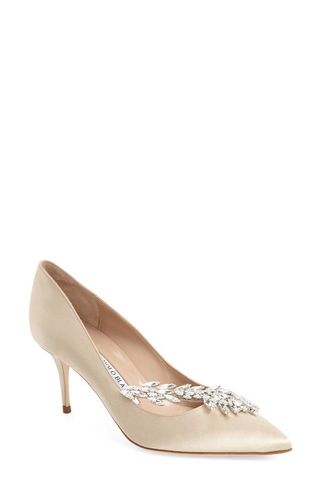 ' Nadira' Crystal Embellished Pointy Toe Pump