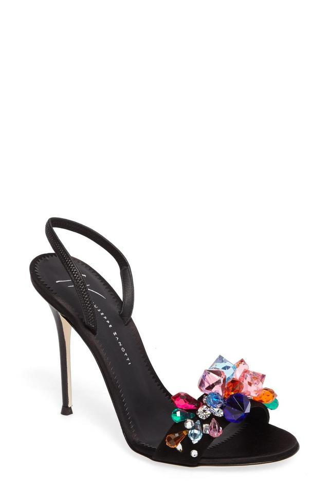 Mistico Crystal Embellished Slingback Sandal