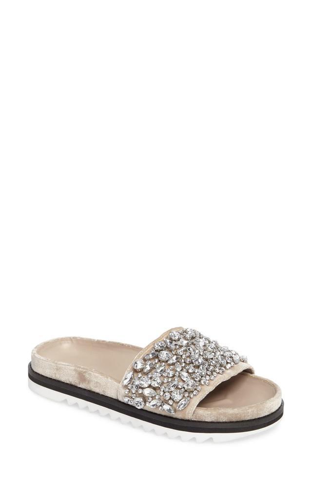 Jacory Crystal Embellished Slide Sandal
