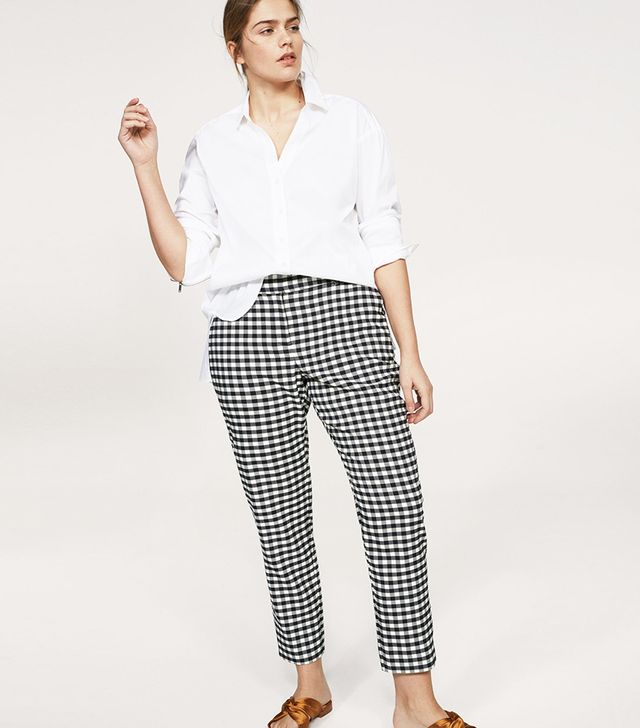 Mango Gingham Trousers