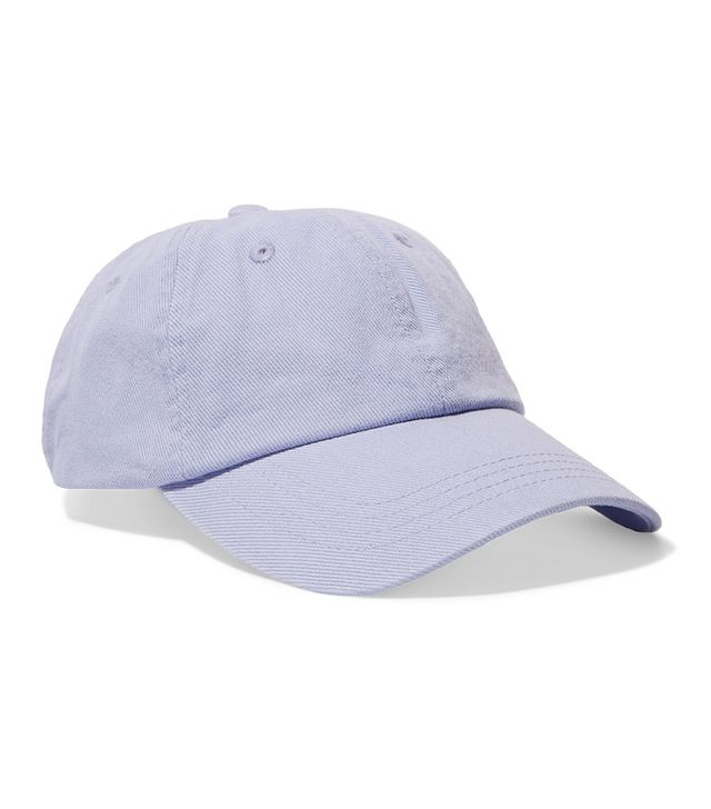 Carily Embroidered Cotton-twill Baseball Cap