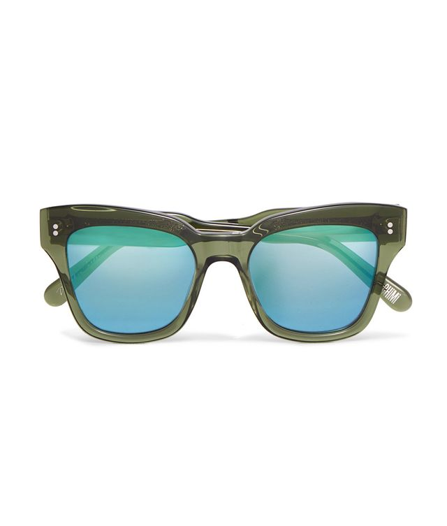004 Cat-eye Acetate Mirrored Sunglasses