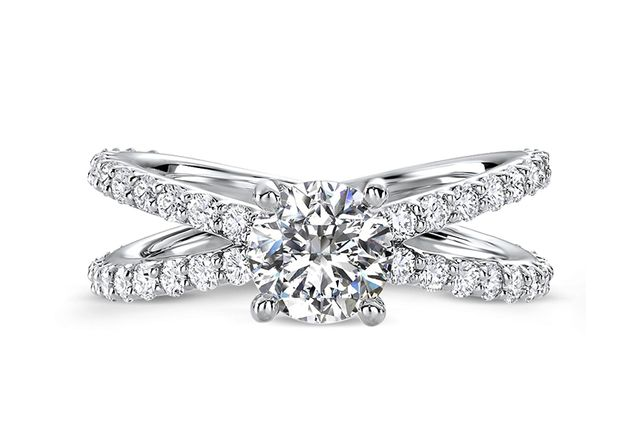 Ritani Open Band Diamond Engagement Ring