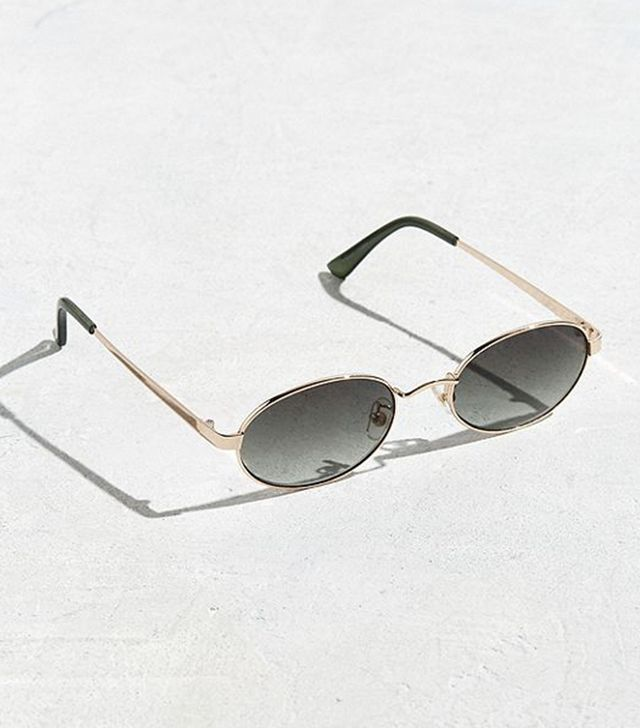 UO Small Metal Oval Sunglasses