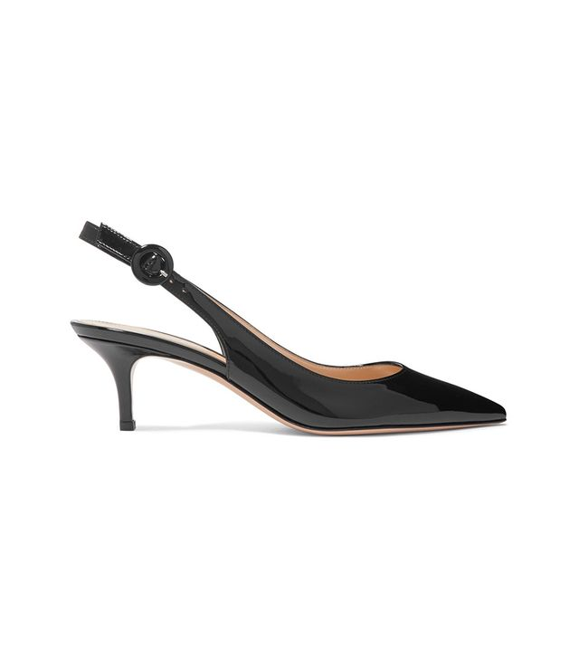 Anna 55 Patent-leather Slingback Pumps