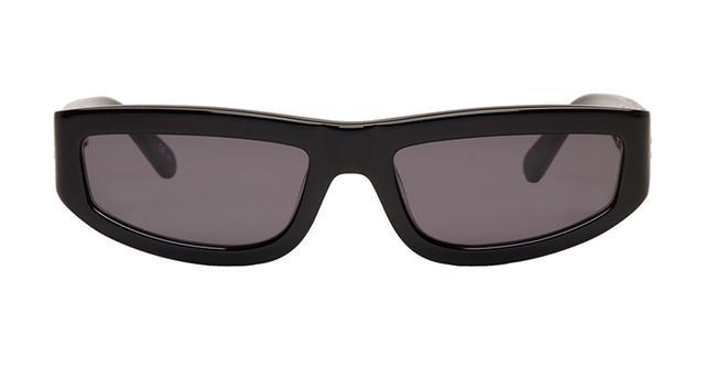 Stella McCartney Black Slim Rectangular Sunglasses