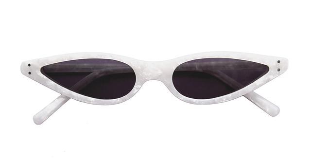 George Keburia White Sunglasses