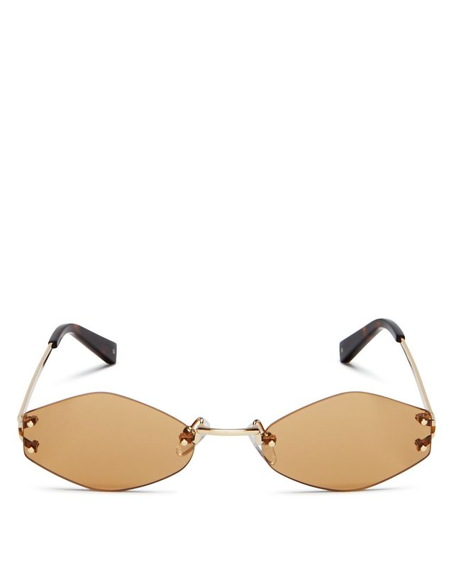 Kendall and Kylie Kye Rimless Oval Sunglasses, 51mm