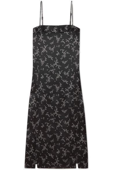 Kelby Floral-print Silk-satin Dress
