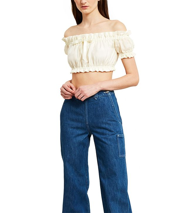 Silk Bow Crop Top