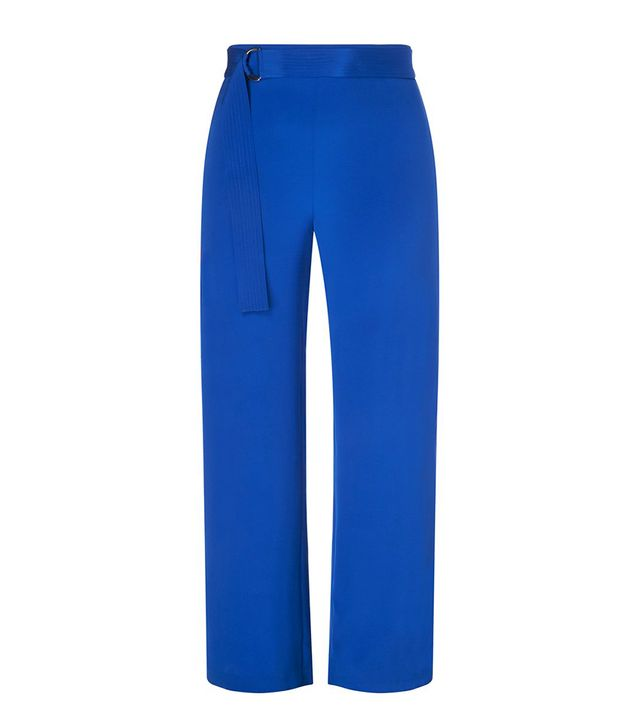 11 Honore Silk Crepe Wide Leg Pant with Belt