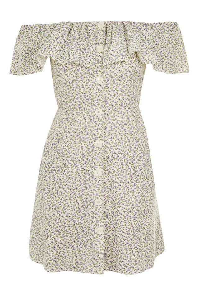 Ditsy Print Bardot Dress