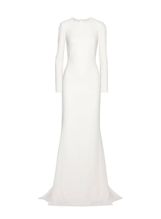 Open-back Stretch-crepe Gown