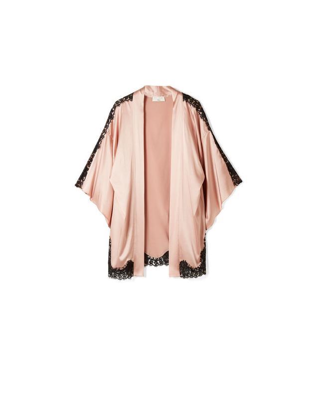 Fleur Du Mal Lace-Trimmed Kimono