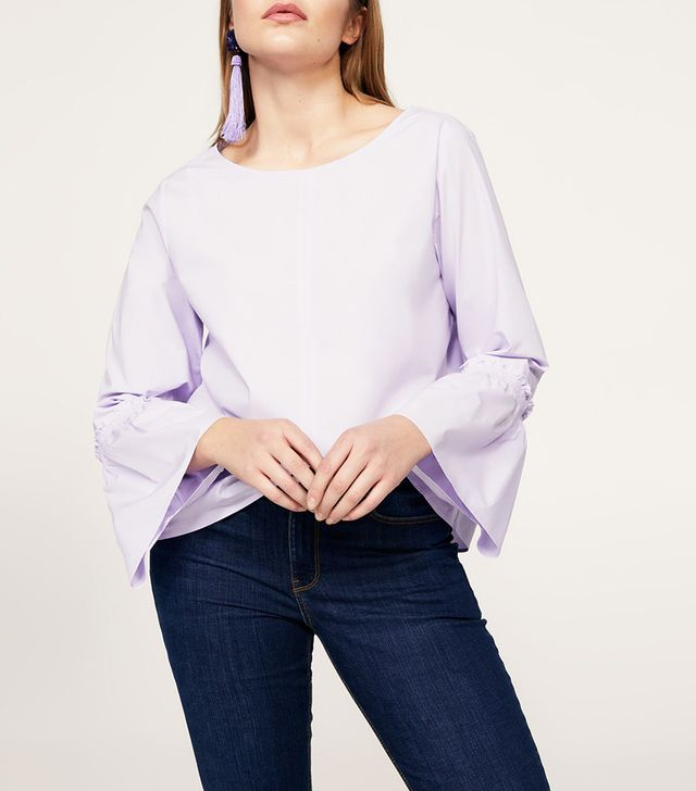 Violeta by Mango Flared Sleeve Blouse