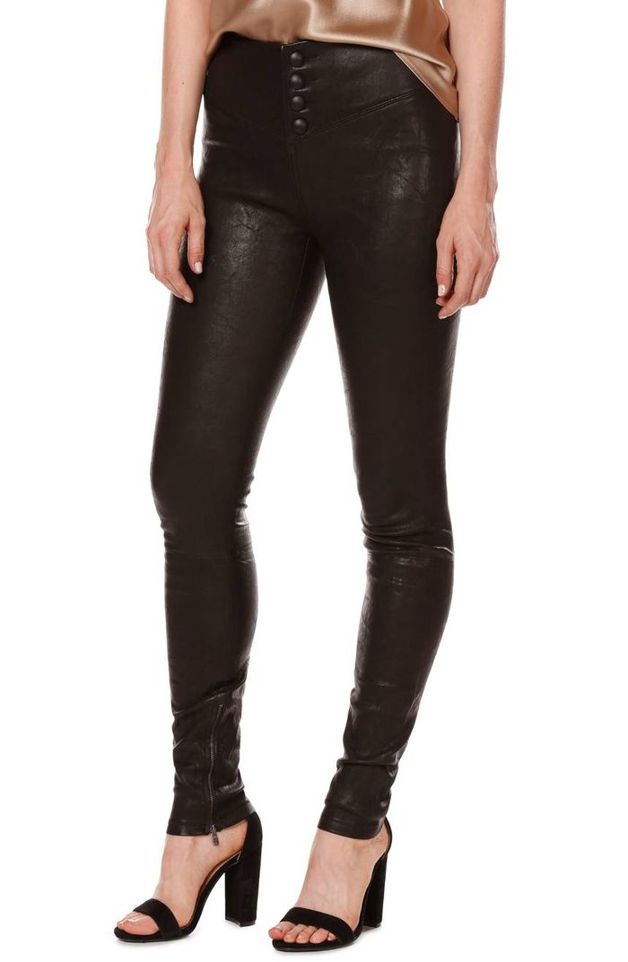 74717942997a Rosie Huntington-Whiteley in Leather Leggings | Who What Wear