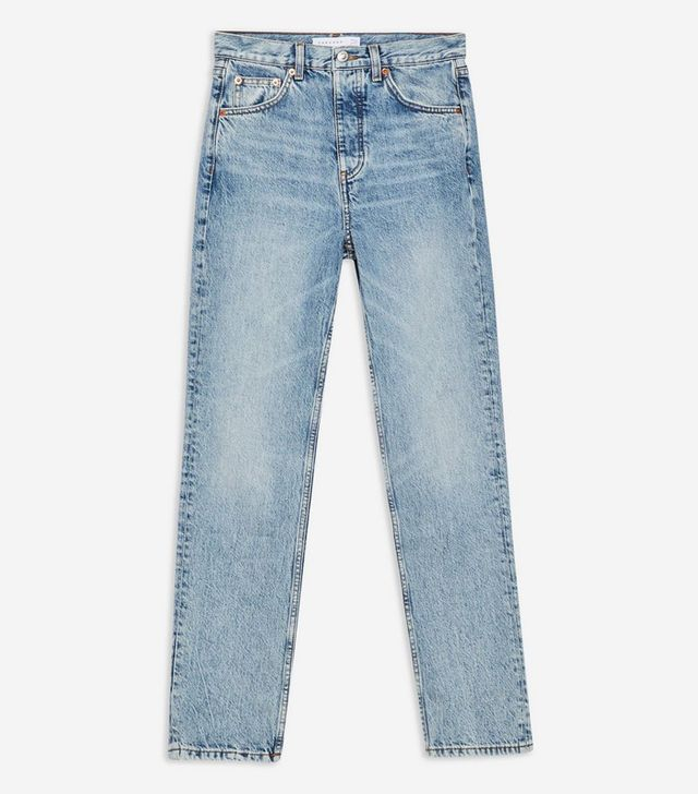Topshop Bleach Editor Cropped Jeans