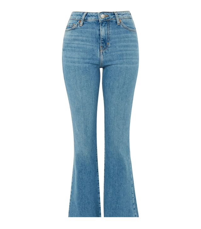 Topshop Mid Blue Dree Cropped Jeans