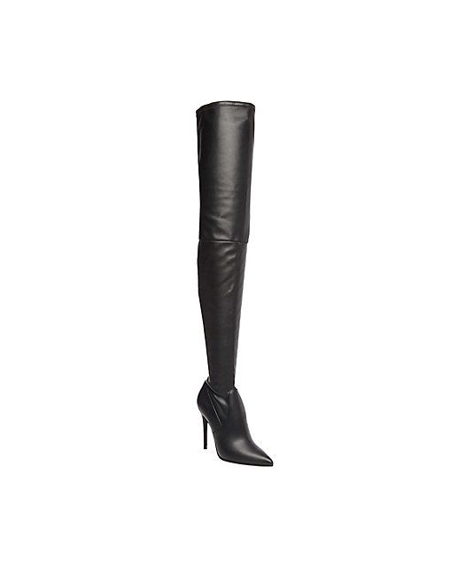 Steve Madden Dominque Boots in Black Paris