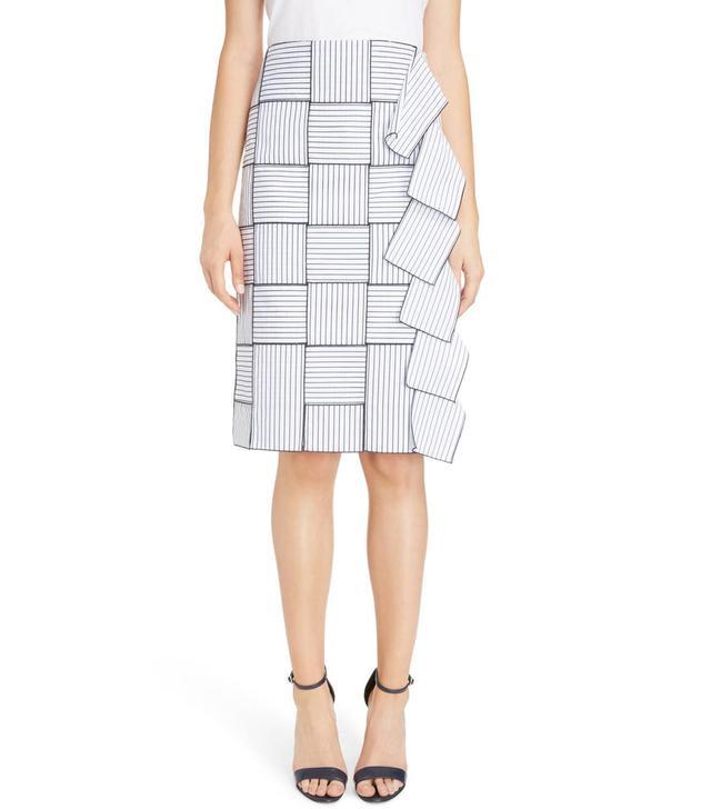 Basket-Weave Pencil Skirt