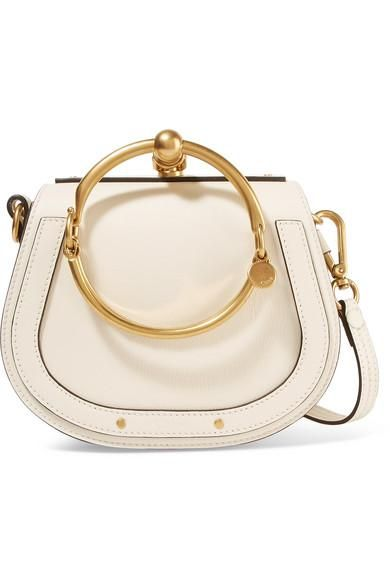 Nile Bracelet Small Leather And Suede Shoulder Bag