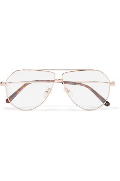 Stella McCartney Aviator-Style Gold-Tone Optical Glasses