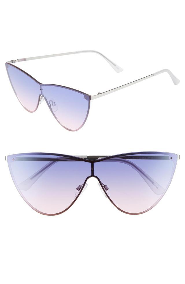 Leith 65MM Futuristic Metal Cat-Eye Sunglasses
