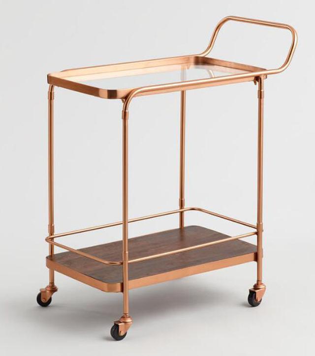 Vintage Midcentury Industrial Bar Cart