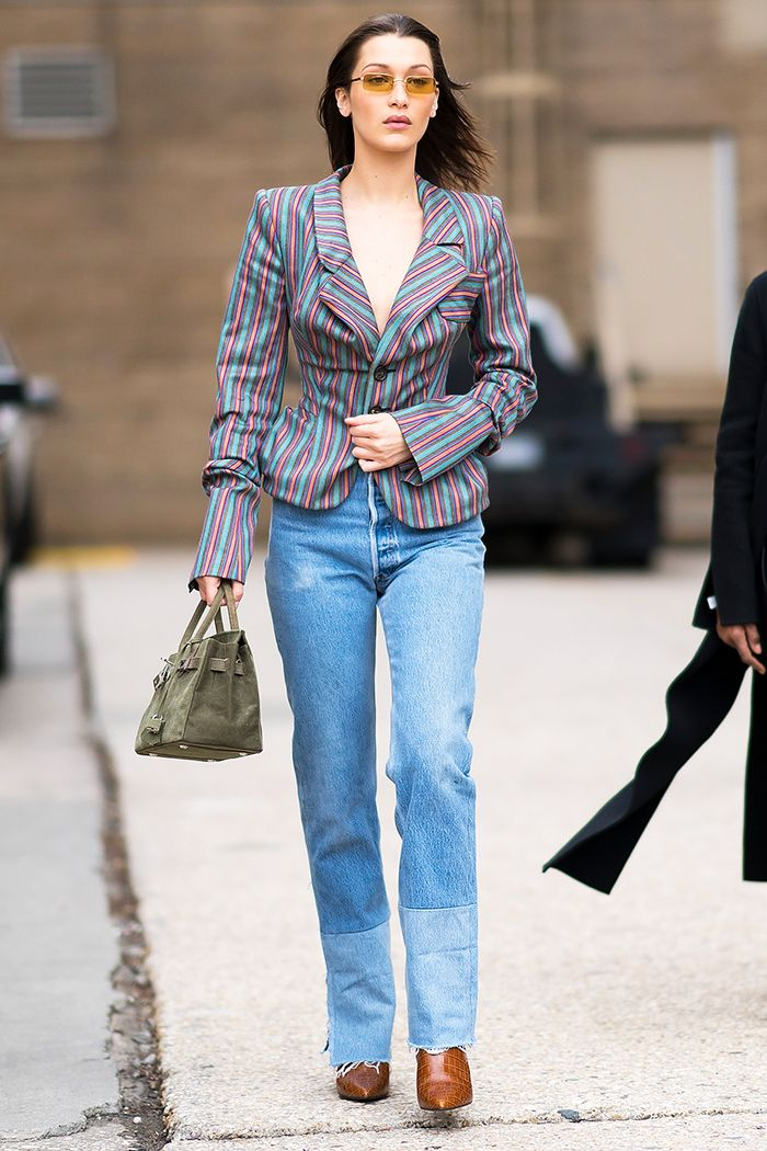 25fff4cb8700 Bella Hadid Wearing Re Done Jeans and Ankle Boots