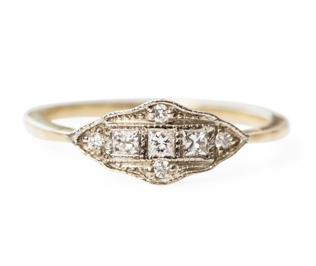 1909 by Erica Wiener Machine Age Ring