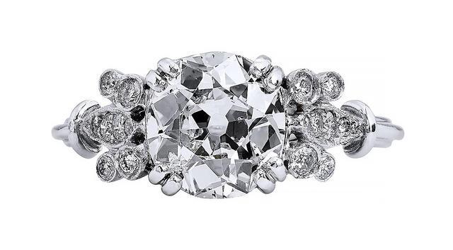 Vintage Old European Cut Diamond Engagement Ring