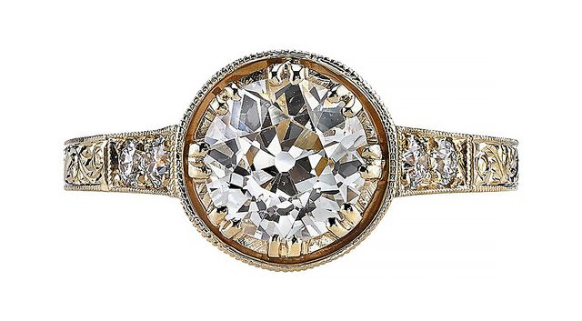 Vintage Old European Cut Engagement Ring