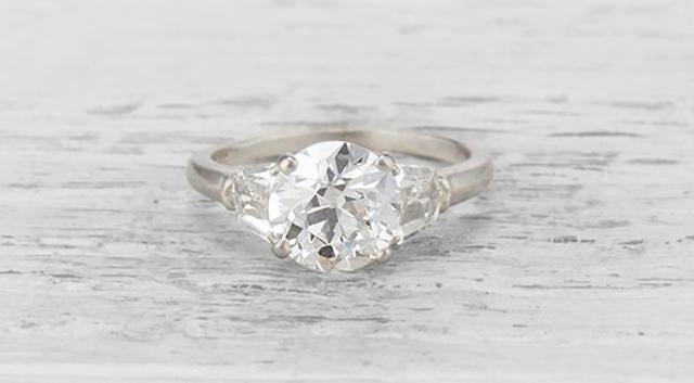 Cartier Vintage Diamond Engagement Ring