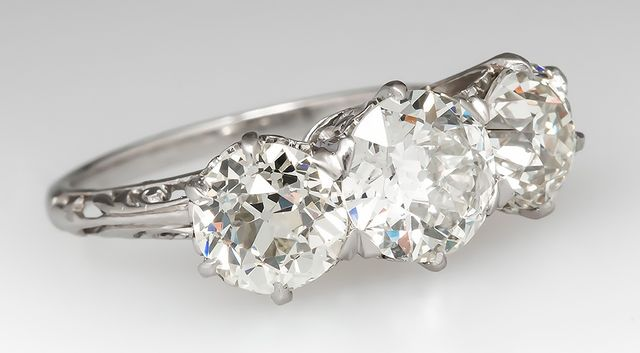 Vintage 1920's Old European Cut Ring