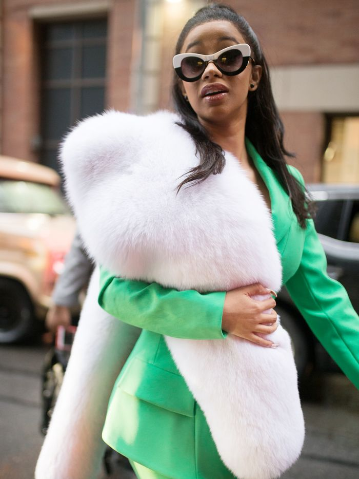 Take A Look At New York Fashion Week Through Cardi B S Eyes Who