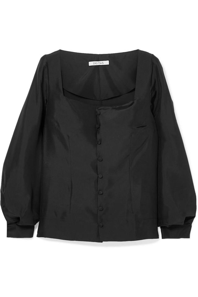 Gaia Silk-Satin Blouse