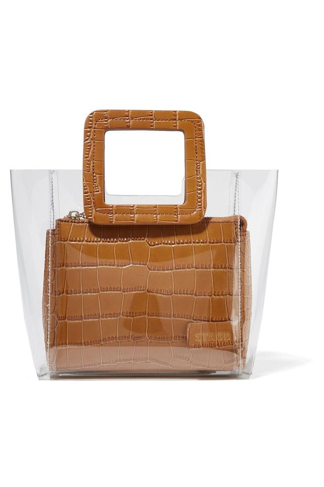 Shirley Mini Croc-effect Leather And Pvc Tote