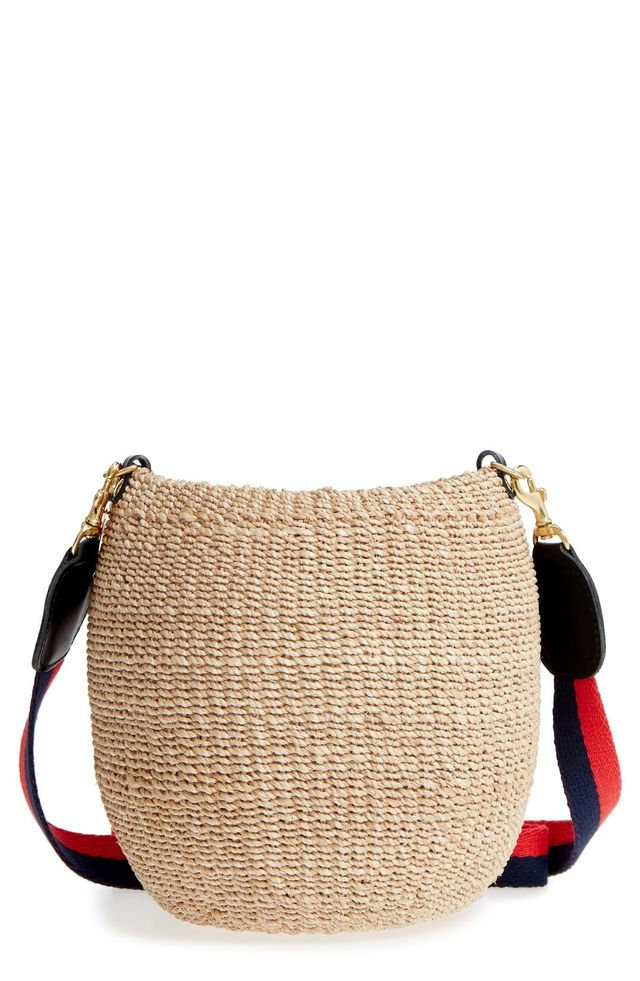 Pot De Miel Top Handle Straw Basket Bag -